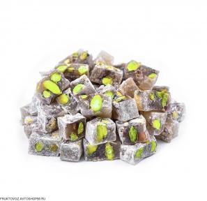 Кубики медовые с фисташками   ~ 100 грамм