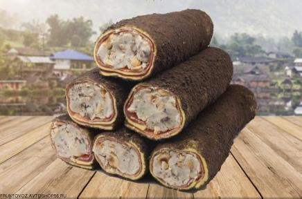 Лукум с ореховой пастой , в кофейной посыпке ~ 100 грамм